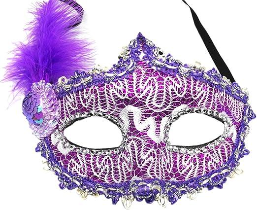 Daliuing - Máscara veneciana con lentejuelas para mujer, para ...