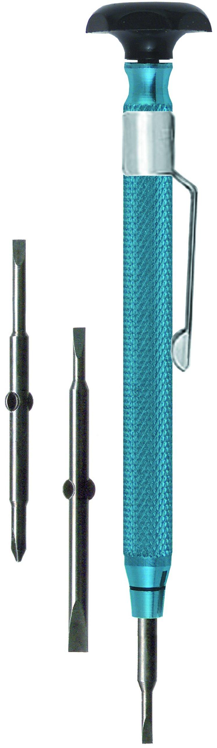 Moody Tools 55-0217 Reversible Tip Chromium Vanadium Steel Screwdriver Set, 4-Piece