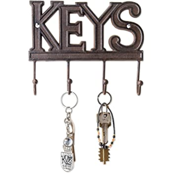 Amazon Com Key Organizer Holder With 2 Key Chains Wall