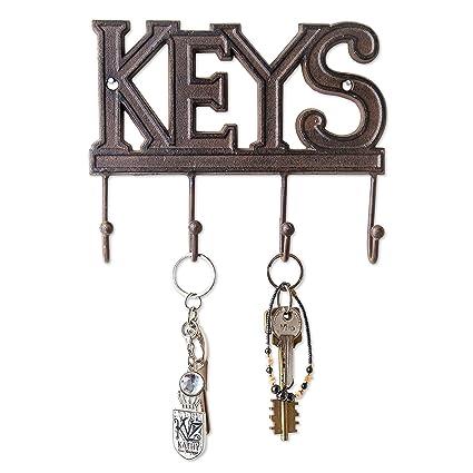Comfify Key Holder - Keys - Wall Mounted Key Hook - Rustic Western Cast  Iron Key 4df69608a