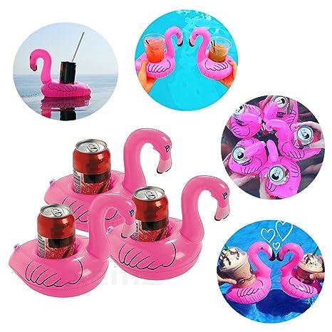 Soporte para vasos hinchable, bonito soporte para bebidas, posavasos flotantes, mini piscina,