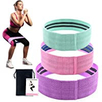 SIYWINA Resistance Bands for Legs and Butt , Resistance Loop Exercise Bands for Home Fitness , Stretching Strength Training , Pilates Flexbands Wide Workout Booty Bands Set Anti Slip Elastic