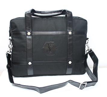 21605bb4680c Yves Saint Laurent Faux Leather Netbook Laptop Bag Black  Amazon.co.uk   Luggage