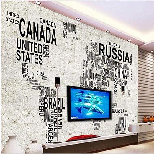 QVZXN Fondo de pantalla de TV de pared de piedra de mapa digital de gran fresco fresco personalizado-280X200CM: Amazon.es: Bricolaje y herramientas