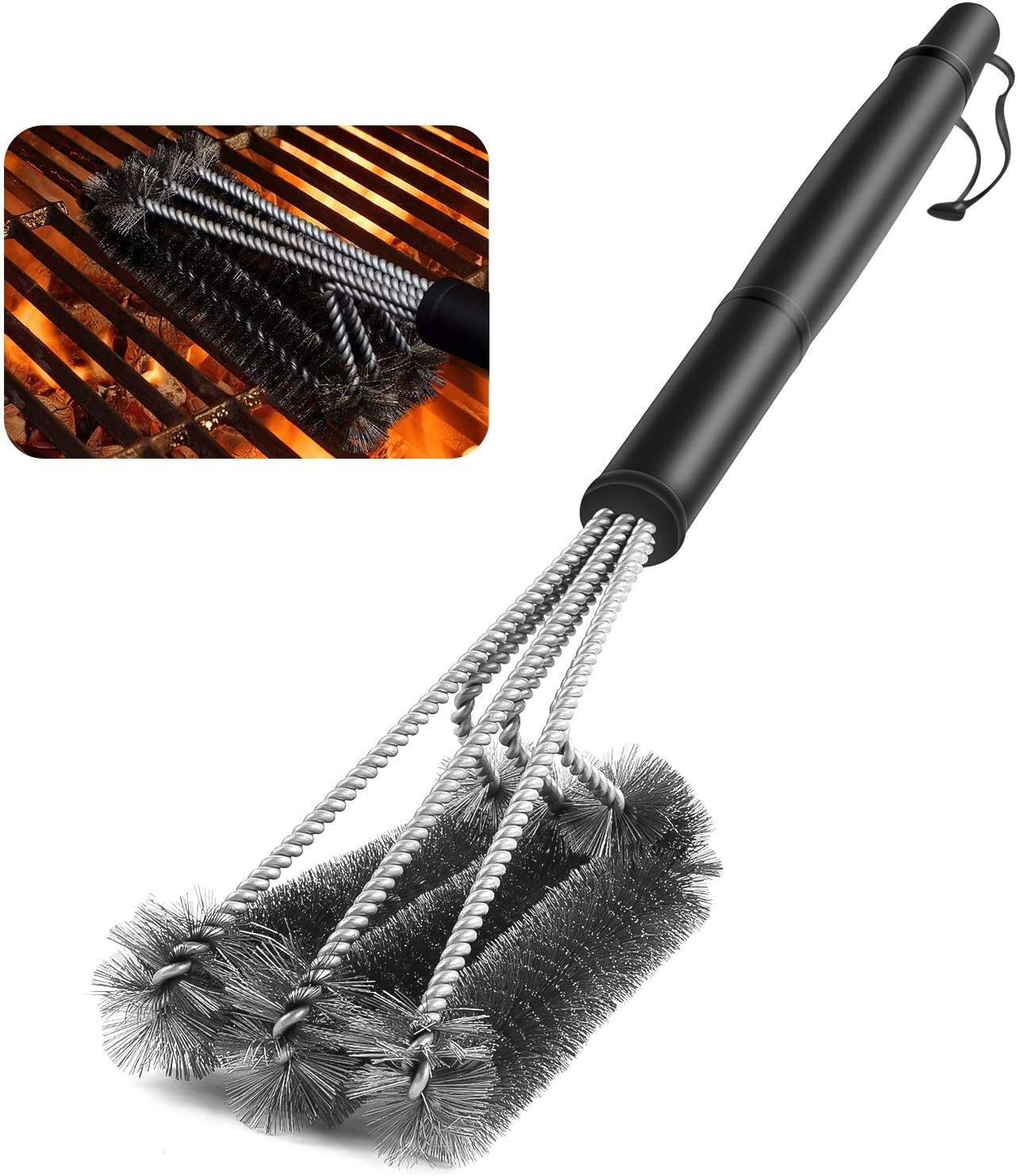 Details about  /Barbecue Grill Brush BBQ Kit Cleaning Stainless Steel Nonstick Cleaning Brushes