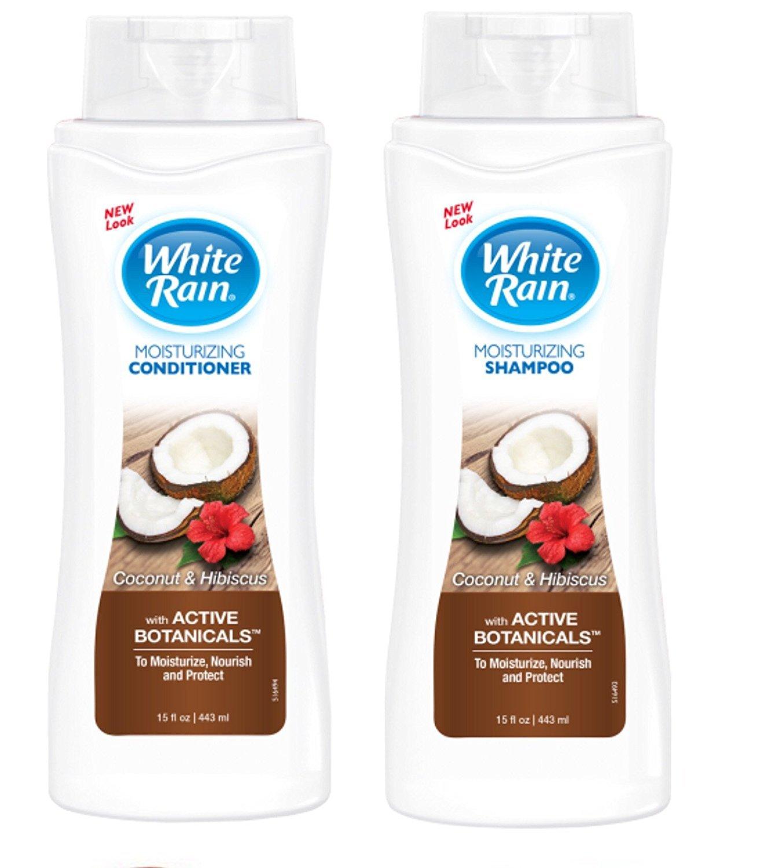 White Rain Coconut Hibiscus Shampoo and Conditioner Set 15oz ea