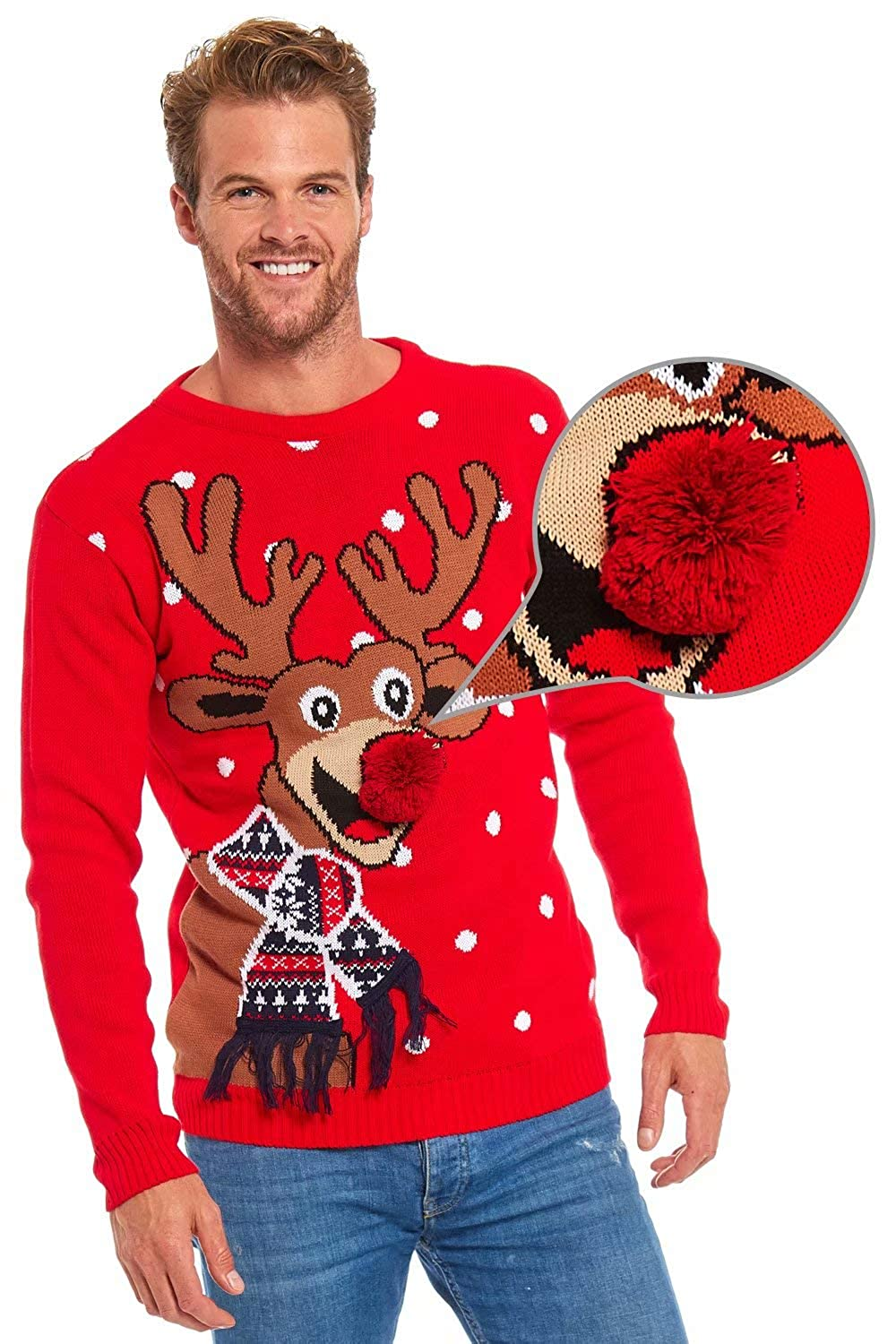 Unisex Men's Ugly Christmas Sweater Funny Novelty Xmas Pullover