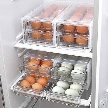 Caja de Huevos Transparente Caja de Almacenamiento de Huevos de ...