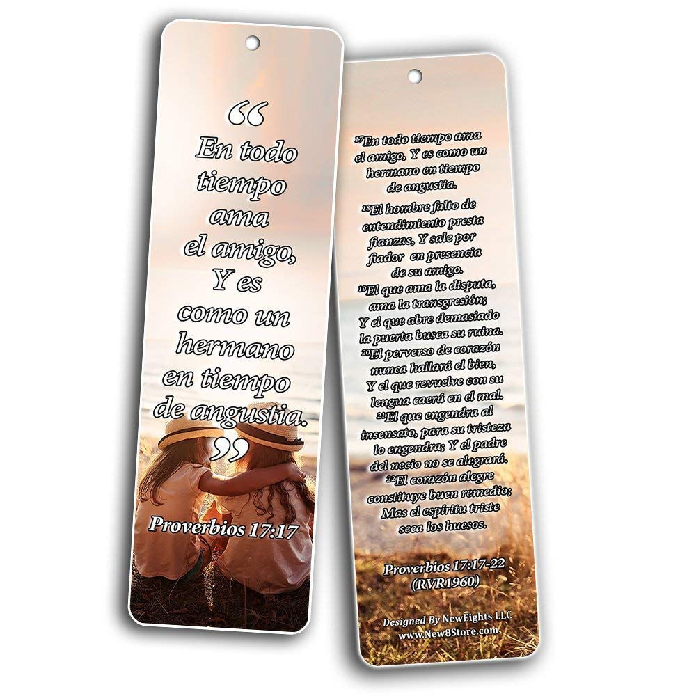 Spanish Bookmarks Cards (60-Pack)- Popular Inspirational Holy Scriptures - War Room Decor by NewEights (Image #3)
