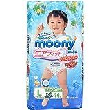 MOONY 成长裤 尿不湿 拉拉裤 尿不湿 L44片 男宝宝 (9-14kg适用) (日本进口)(包装交替中)