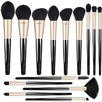 Professional Makeup Brushes Premium Synthetic Cosmetic Brush Set Kit for Blending Foundation Powder Blush Concealer…