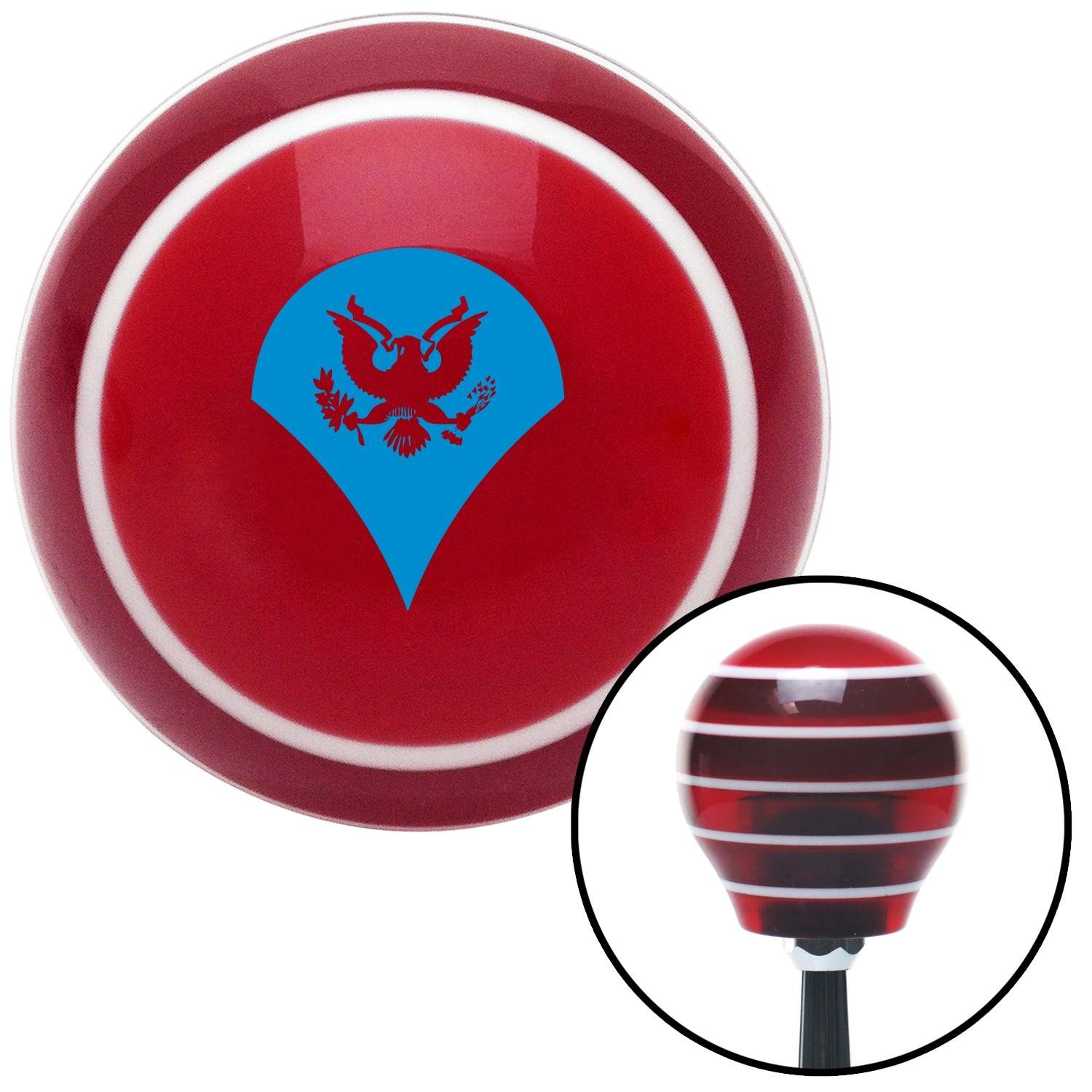 Blue Specialist American Shifter 115461 Red Stripe Shift Knob with M16 x 1.5 Insert