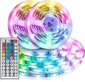 2X Klebestreifen 300 SMD LED RGB Lichtstreifen Fernbedienung 5MT Pool U9F1