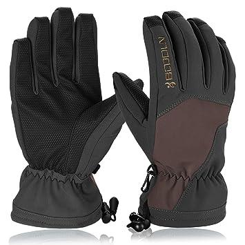 1de52230ea Skihandschuhe, HiCool Ski-/Snowboard-Handschuhe Sporthandschuhe  Winterbekleidung Thermohandschuhe für Herren Damen (