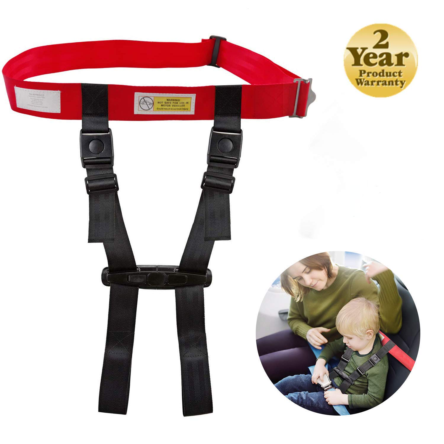 Child Safety Airplane Travel Harness,Care Harness Restraint System,FAA Approved Child Airplane Safety Harness