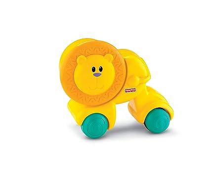 Fisher Price Y2775 Press And Go - León de juguete con ruedas