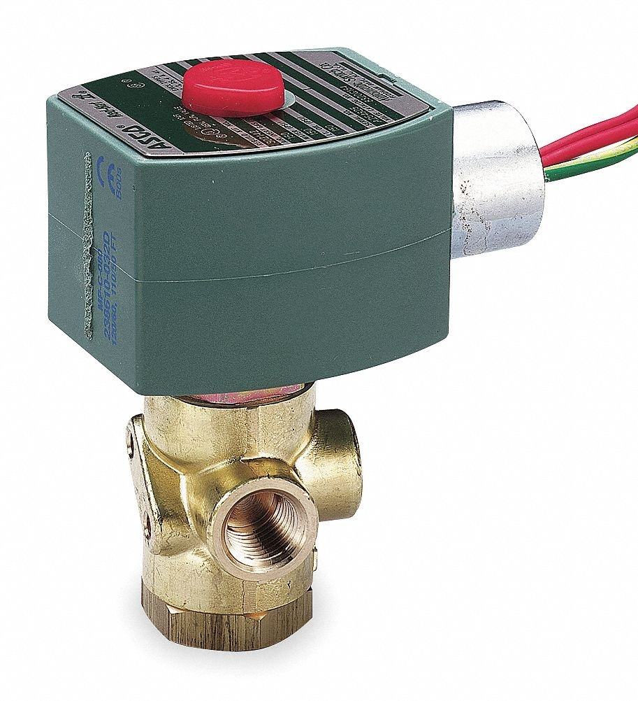 120VAC Brass Quick Exhaust Solenoid Valve, Universal, 1/4'' Pipe Size by REDHAT (Image #1)