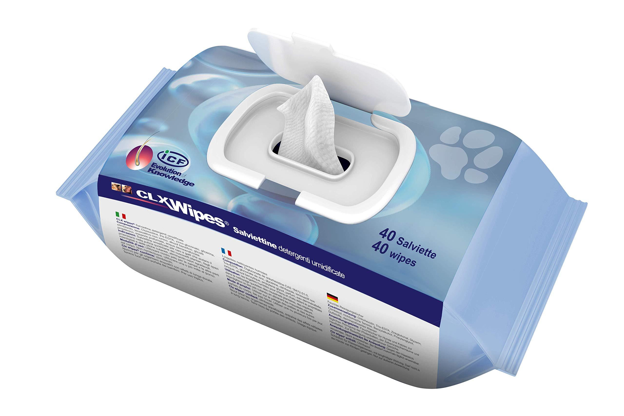 CLX Dog Puppy Cat and Pet Wipes – Antibacterial Antiseptic and Antifungal Grooming and Cleaning Wipes for Paw Ear Tushie Face and Bums – 40pck and Pocket size 20 pck