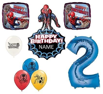 Amazon.com: Ramo de globos personalizados de Spiderman para ...
