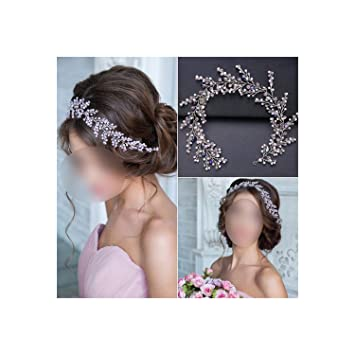 Shiny Beads Rhinestones Wedding Bridal Tiara Headband Bride Hair Accessory Crown