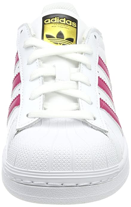 adidas Superstar J, Sneaker Unisex Bambini, Bianco (Ftwr White/Ftwr White/Metallic Silver-SLD), 35.5 EU