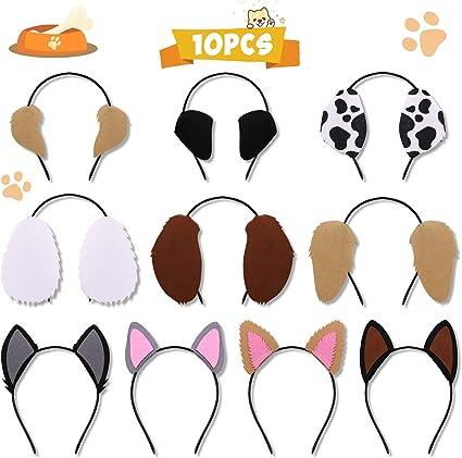 Amazon.com: Diademas de orejas de cachorro para mascotas ...