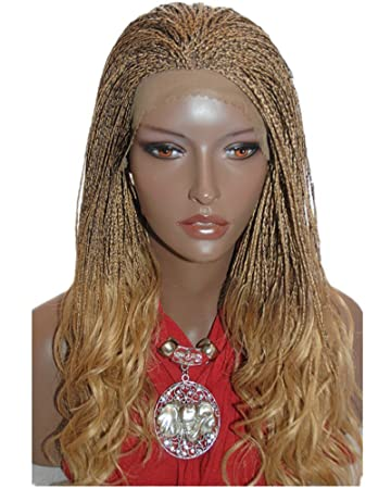 Amazon.com : Best-Selling Braided Lace Front Wig Micro Braids ...