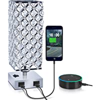 Acaxin USB Crystal Table Bedside Desk Lamp with 156-Pieces Crystals