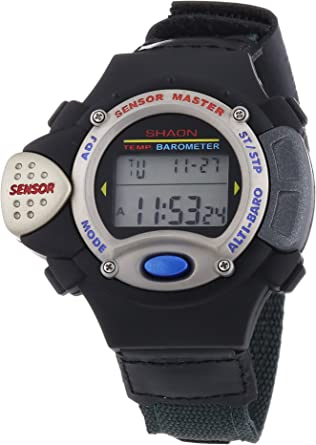 Shaon - Reloj Digital de Cuarzo para Hombre, Correa de Diversos Materiales Color Multicolor