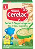Nestlé Cerelac Baby Food, Rice and Mixed Vegetables, 250g