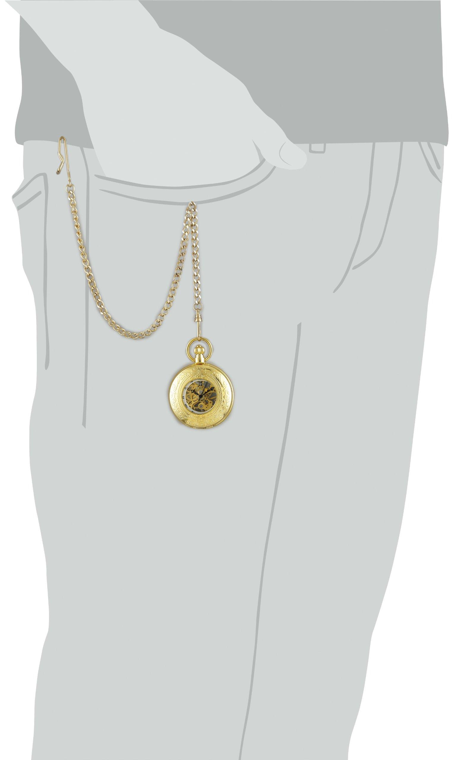 Charles-Hubert, Paris Gold-Plated Mechanical Pocket Watch by CHARLES-HUBERT PARIS (Image #4)
