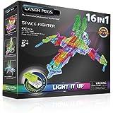 Laser Pegs - Jolzfig16-00000 - Power Base - 16 En 1 - Space Fighter - 102 Pièces