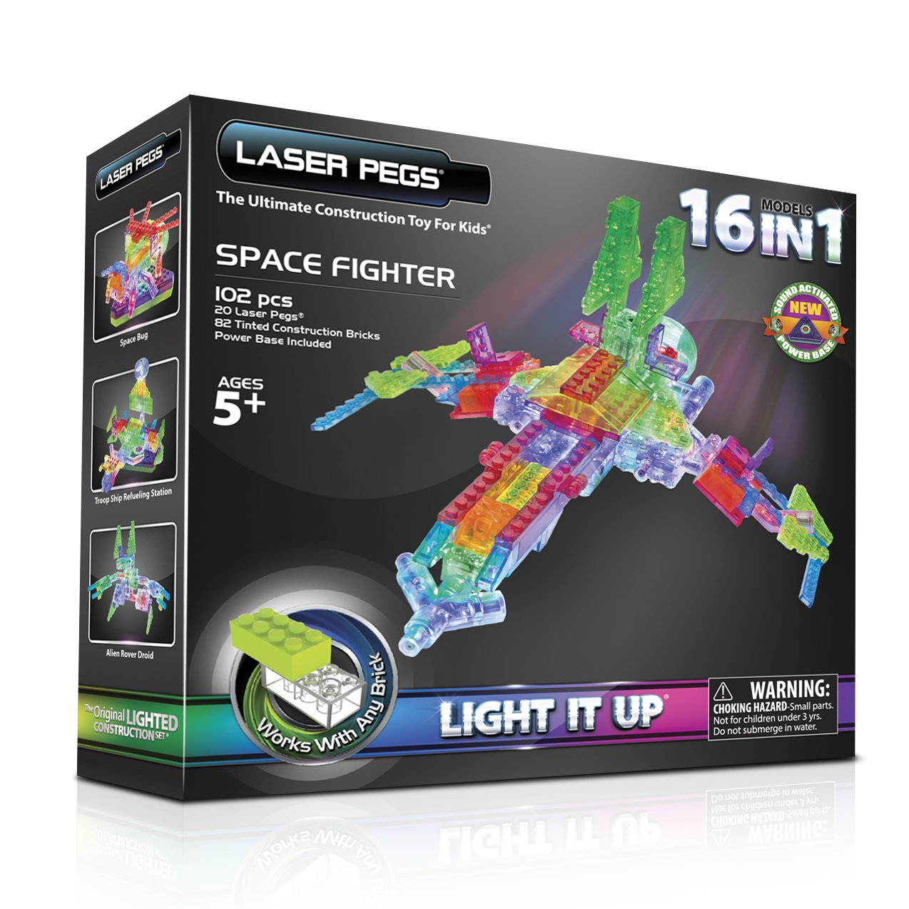 Luminous designer Laser Pegs: feedback from parents. LED toys for children
