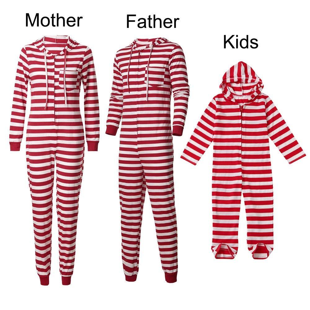 Wawer Familie Streifen Schlafanzug Weihnachten Nachtwäsche Kinder ...