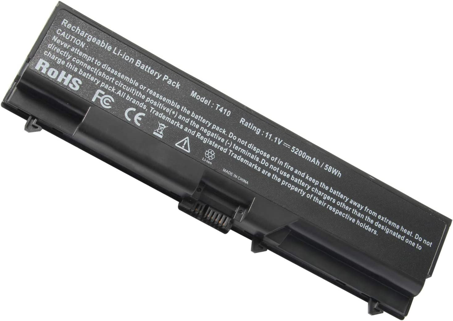 ASUNCELL T510 11.1 5200mAh Laptop Battery Compatible with ThinkPad ...