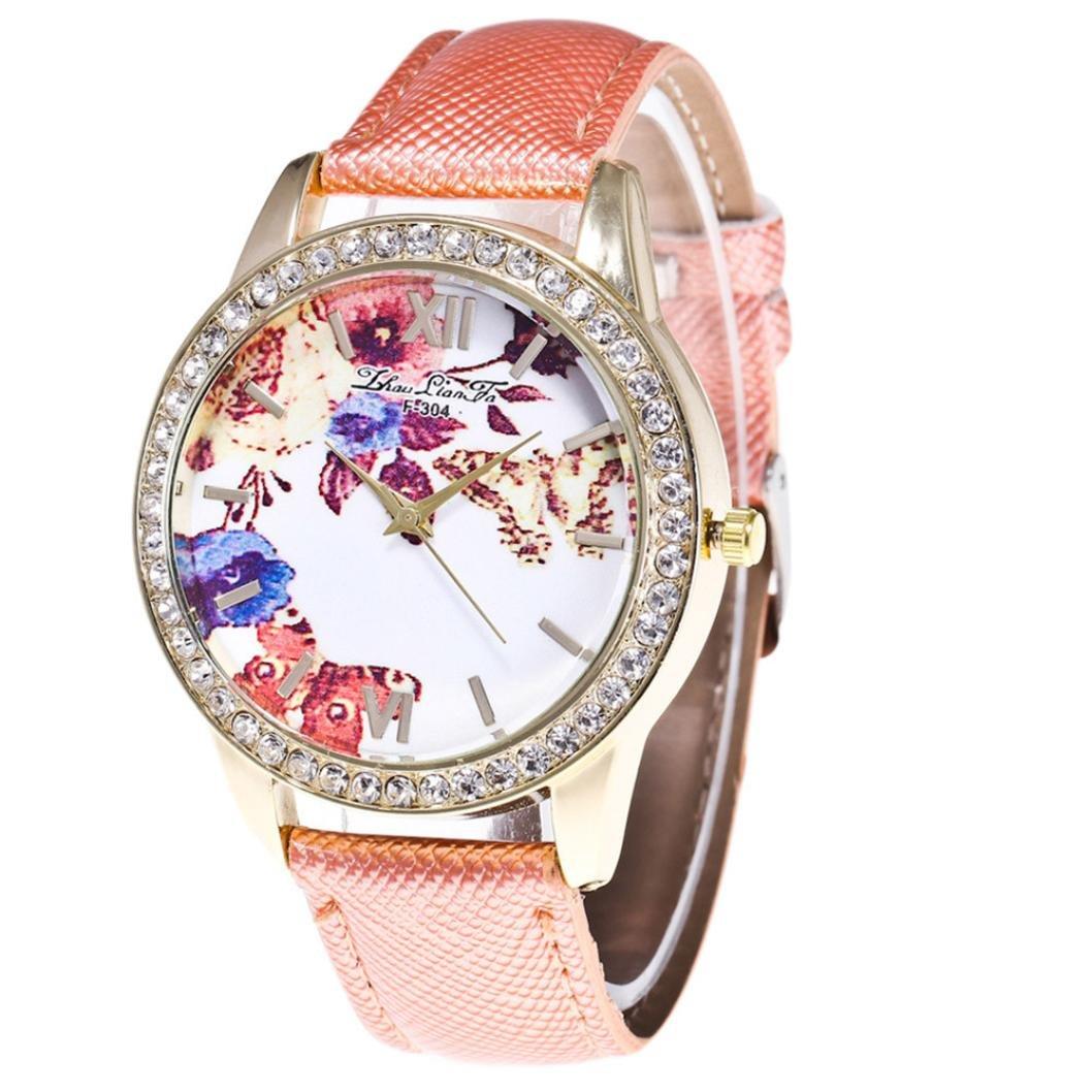Ouneed® Uhren - SÜßigkeit-Farben-mÄnnliche und weibliche BÜgel-Armbanduhr (Orange)