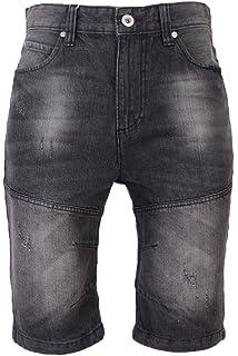 d6e266d6 CS New Mens Crosshatch Denim Jean Shorts Knee Length 3/4 Cargo ...