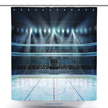 Amazoncom Vanfan Durable Shower Curtains Hockey Stadium Fans Crowd