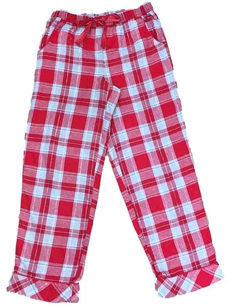 e9602629699b Womens Red Silver   Gray Sleep Pants Flannel Tartan Plaid Pajama Bottoms  X-Large