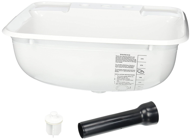 LaSalle Bristol 16186PW 12' x 15' x 16' Parch Plastic Sink