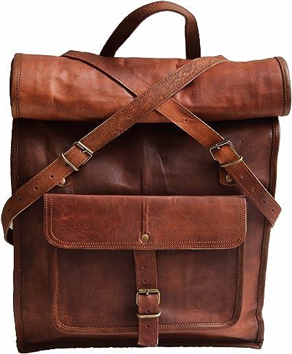 Genuine Leather Mens Backpack Shoulder Laptop Travel Rucksack School Bags Sale