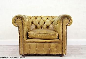 Chesterfield Sessel Alt Barock Antik Garnitur Englisch Leder Amazon