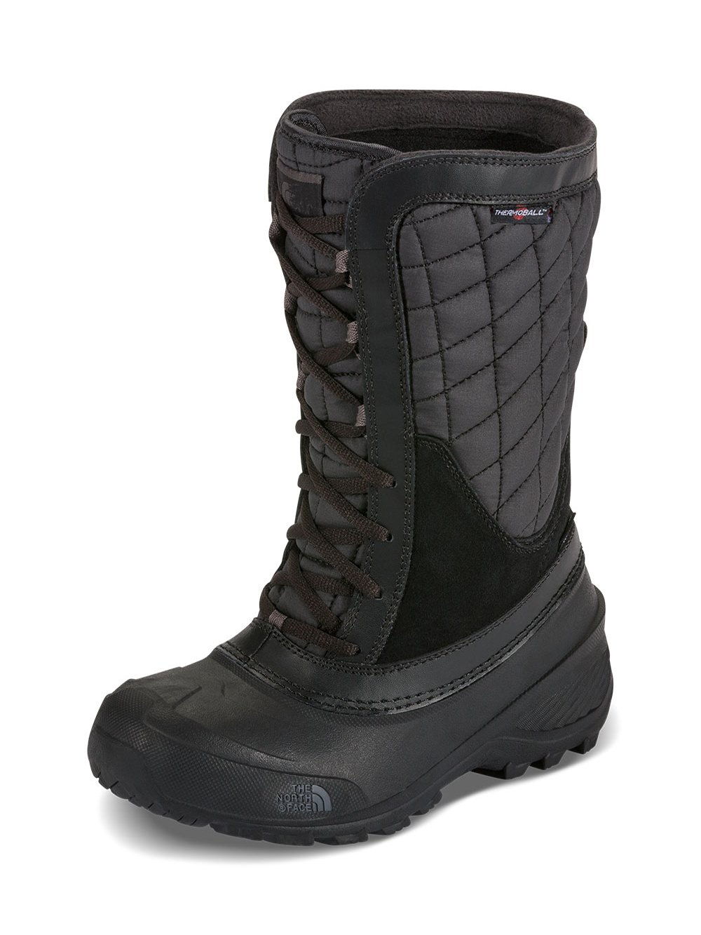 The North Face Thermoball Shellista Boot Girls' TNF Black/Dark Gull Grey 13