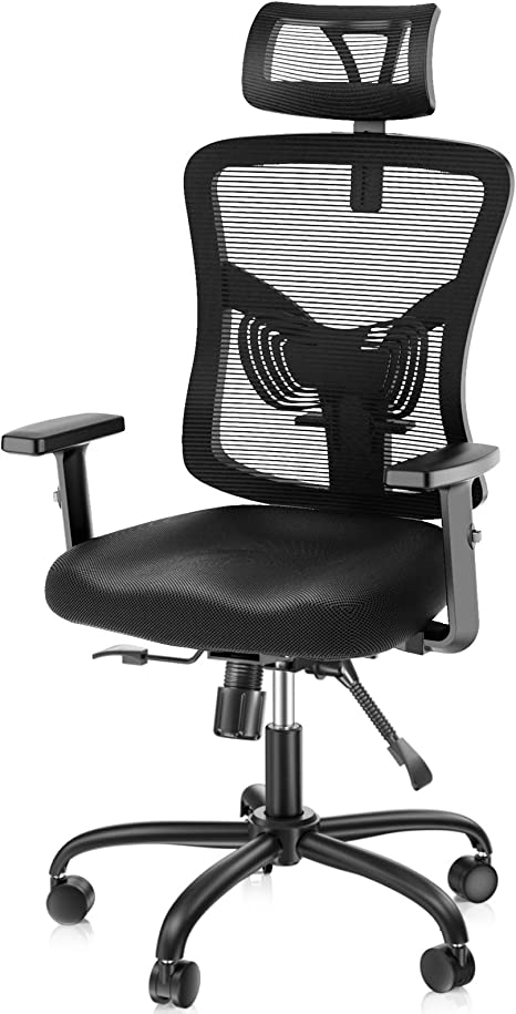 Noblewell Ergonomic Office Chair High Back Mesh Computer Chair With Lumbar Support Adjustable Armrest Backrest And Headrest Bifma Certified Kitchen Dining