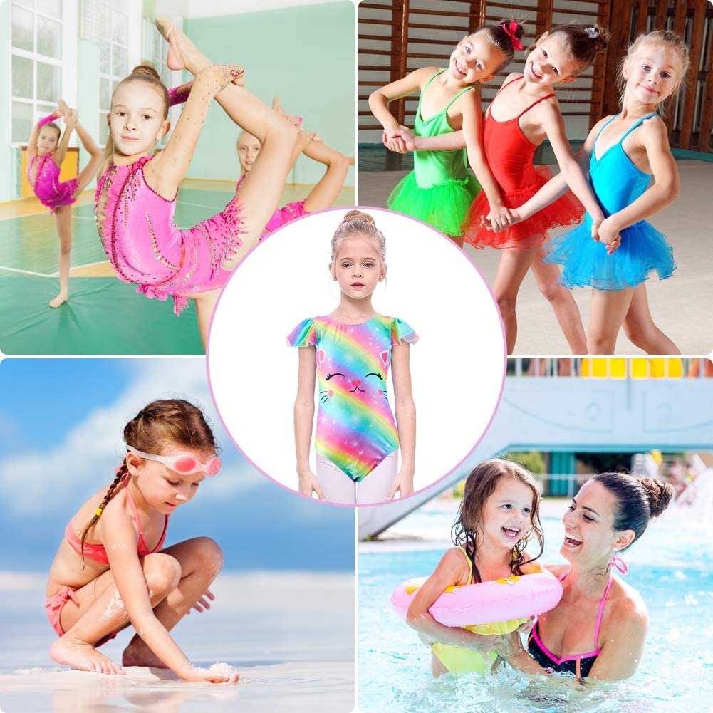 ICOSY Leotards for Girls Gymnastics Apparel Unicorn Gymnastic Biketard Toddler One Piece Dance Leotard Outfit for Ballet