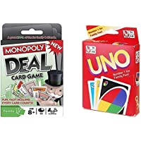 Jaynil Enterprise® Monopoly Deal Card Game and New Joyful Family Uno Cards for Friends and Family Entertainment