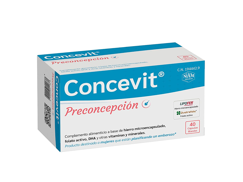 Concevit® Preconcepción con Hierro, Folato activo y ...