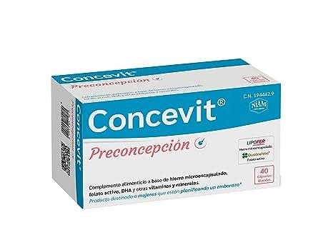 Concevit Preconcepción con Hierro, Folato activo y vitaminas ...