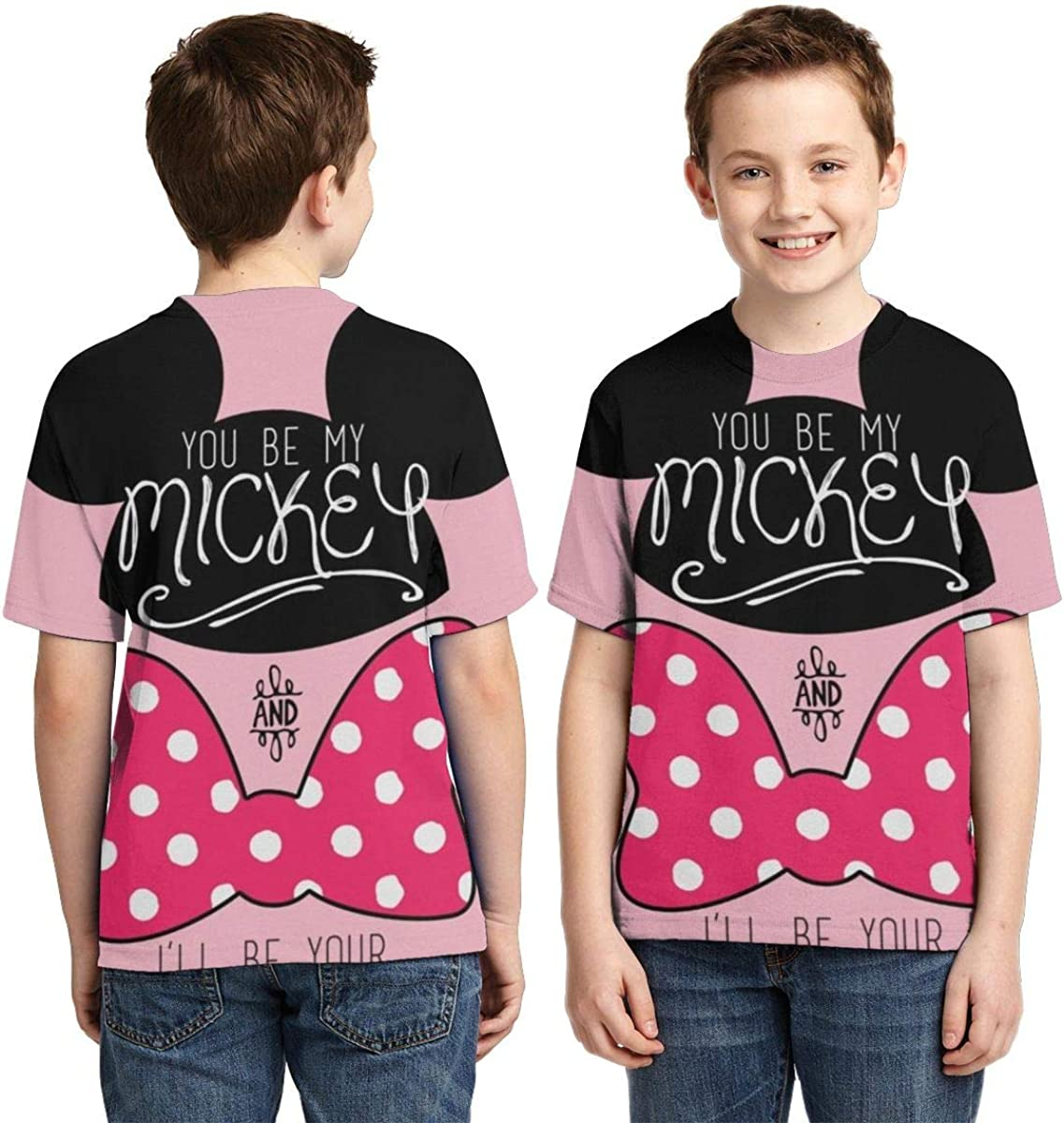 Minnie Mouse Boys T-Shirts Kids Round Neck Short Sleeve Fashion Casual Tops