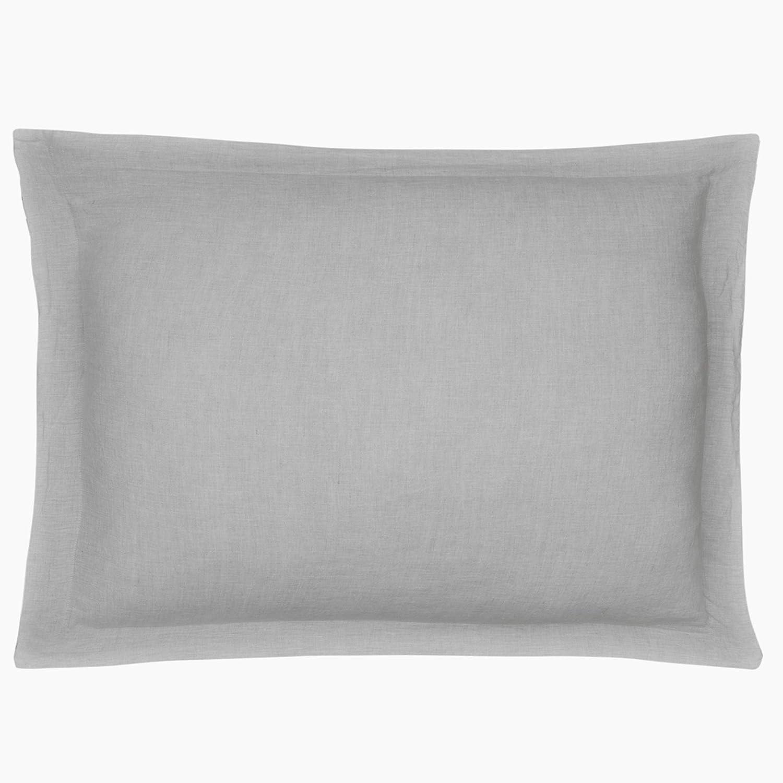 Levtex Home - 100% Linen - Standard Sham - Washed Linen in Light Grey - Sham Size (26 x 20in.)